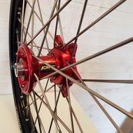 Wheel 21-1,60 BETA 13-.. BLACK RIM/RED HUB