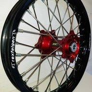 Wheel 18-2,15 BETA 13-.. BLACK RIM/RED HUB